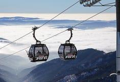 Modern ropeway at hill Chopok - Low Tatras, Slovakia Royalty Free Stock Image