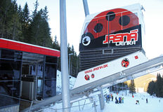 Modern ropeway TWINLINER at Low Tatras, Slovakia Royalty Free Stock Photo