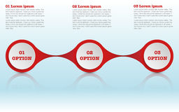 Modern roudned drie stappeninfographics, infographic cirkel Royalty-vrije Stock Foto's