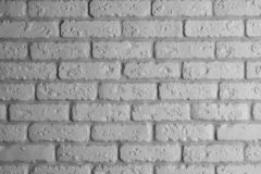 Modern rough white brick interior wall background stock image