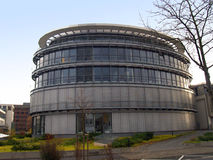 Modern round building in Bonn. Western Germany Royalty Free Stock Images