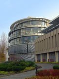 Modern round building in Bonn. Western Germany stock photo