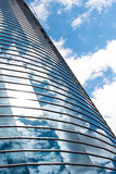 Modern round glass building. Royalty Free Stock Photo