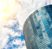 Modern round glass building. Royalty Free Stock Photography