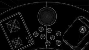 Modern Round Kitchen Interior Animation stock video footage