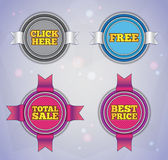 Modern round labels. Self-adaptable design elements. EPS10 Stock Photos