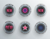 Modern round labels Royalty Free Stock Photography