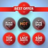 Modern round promotion badges Royalty Free Stock Image