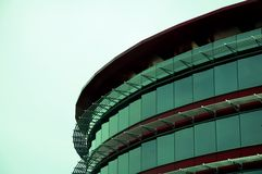 Modern round steel building Royalty Free Stock Photos