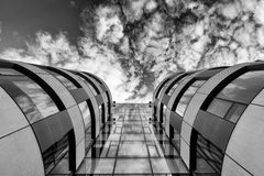 Modern rounded building Royalty Free Stock Image