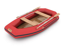 Modern rubber boat Stock Image