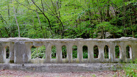 Modern Ruin Bridge Balusters Royalty Free Stock Photos