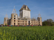 Modern ruin of castle Almere Royalty Free Stock Photography
