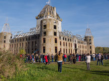 Modern ruin of castle Almere Royalty Free Stock Photos