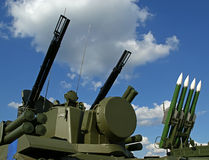 Modern Russian anti-aircraft missiles Stock Photos
