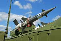 Modern Russian anti-aircraft missiles  5V27DE Stock Photos