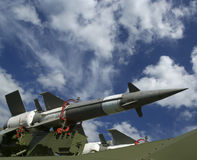 Modern Russian anti-aircraft missiles  5V27DE Royalty Free Stock Image