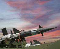 Modern Russian anti-aircraft missiles  5V27DE Stock Image