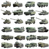 Modern Russian armored military vehicles isolated Stock Image