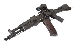 Modern russian assault rifle on white Stock Photography