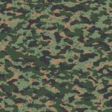 Modern russian digital seamless camo pattern. Texture Royalty Free Stock Photography