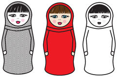 Modern Russian Dolls Stock Photos