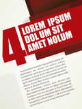Modern Russian layout red. Russian Layout Poster Template Vector Design Royalty Free Stock Image