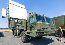 Modern Russian military mobile radar station 64L6M Royalty Free Stock Photography