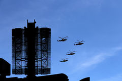 Modern Russian radar and military aircrafts Royalty Free Stock Images