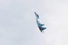 Modern Russian strike fighter Su-35 Royalty Free Stock Photos