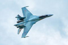 Modern Russian strike fighter Sukhoi Su-35 Royalty Free Stock Photos