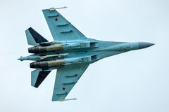 Modern Russian strike fighter Sukhoi Su-35 Royalty Free Stock Images