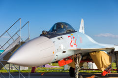 Modern Russian strike fighter Sukhoi Su-35 Stock Images