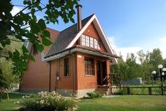 Modern russian suburban house Royalty Free Stock Photo
