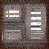 Modern rusted web card login form Royalty Free Stock Images