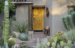 Free Modern Rustic Desert Style Curb Side Appeal Royalty Free Stock Photos - 49156348