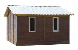 Modern rustic style- wooden village shed Stock Photos
