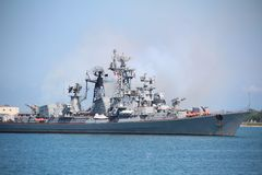 Modern rysk krigsskepp Arkivfoto