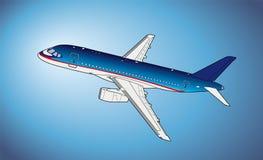 Modern rysstrafikflygplan också vektor för coreldrawillustration Fotografering för Bildbyråer