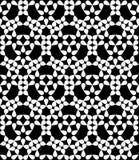 Modern sömlös blom- geometrimodell för vektor, svartvitt abstrakt begrepp Arkivbilder