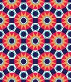Modern sömlös färgrik geometrimodell för vektor, färgabstrakt begrepp Arkivfoto