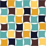 Modern sömlös färgrik geometrimodell för vektor, färgabstrakt begrepp Royaltyfri Bild