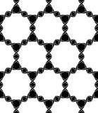 Modern sömlös geometrimodell för vektor, svartvitt abstrakt begrepp Royaltyfria Bilder