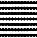 Modern sömlös gjord randig geometrimodell för vektor, svartvitt Royaltyfria Bilder