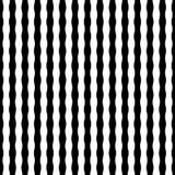 Modern sömlös gjord randig geometrimodell för vektor, svartvitt Royaltyfri Bild
