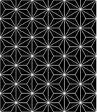 Modern sömlös sakral geometrimodell för vektor, svartvitt abstrakt begrepp
