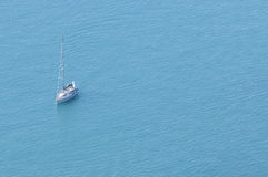 Modern sail boat at sea Royalty Free Stock Photo