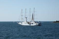 Modern sailing ship Royalty Free Stock Image