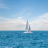 Modern sailing yacht Stock Photos