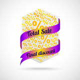 Modern sale badge Royalty Free Stock Images